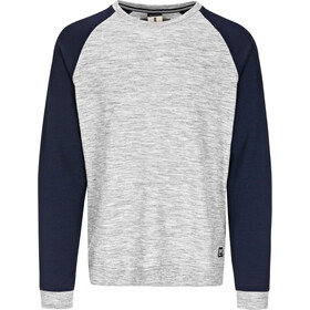 super.natural Essential Raglan Crew Sweater Men Ash Melange/Navy Blazer